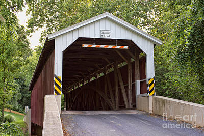 Baumgardner's Mill Covered Bridge Poster by Terry Weaver