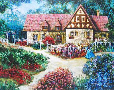 Bavarian Cottage Poster