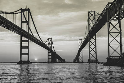 Poster featuring the photograph Bay Bridge Strong by Jennifer Casey