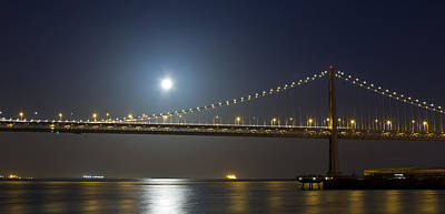 Bay Bridge Supermoon Poster