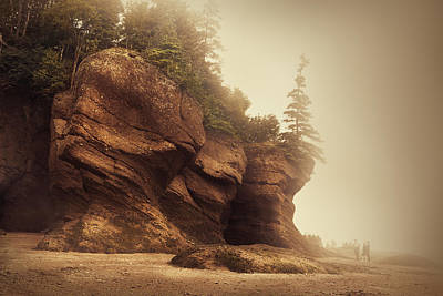 Bay Of Fundy Poster by Magda  Bognar