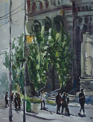 Poster featuring the painting Bay Street_03.jpg by Helal Uddin
