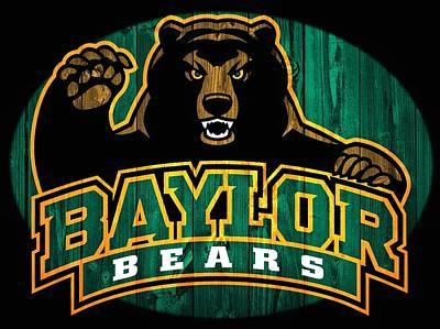 Baylor Bears Barn Door Poster