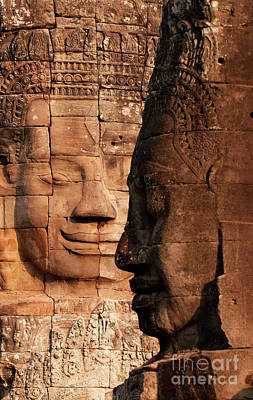Bayon Faces 02 Poster by Rick Piper Photography