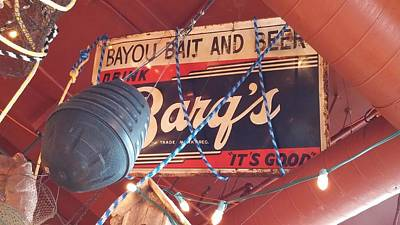Bayou Bait And Beer Poster