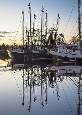 Bayou La Batre' Al Shrimp Boat Reflections 43 Poster