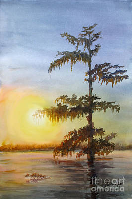 Bayou Sundown Louisiana Poster