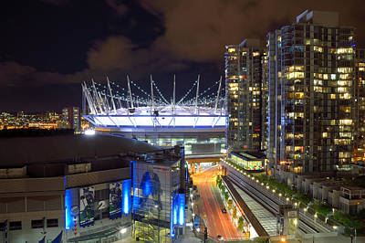 Poster featuring the photograph Bc Place  by Kathy King