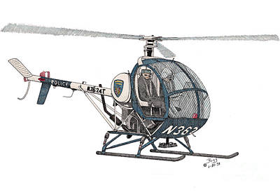 Bcpd Helicopter Poster by Calvert Koerber