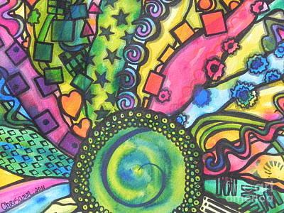 Be A Hippie Poster by Chrisann Ellis