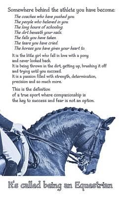 Be Equestrian Quote Poster by JAMART Photography