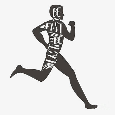 Be Fast Or Be Last. Sportfitness Poster