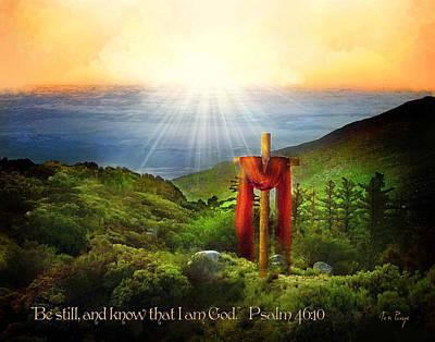 Be Still Poster by Jennifer Page