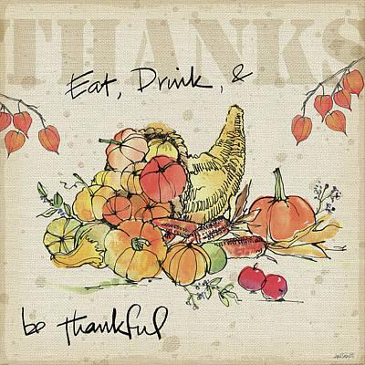 Be Thankful IIi Poster by Anne Tavoletti