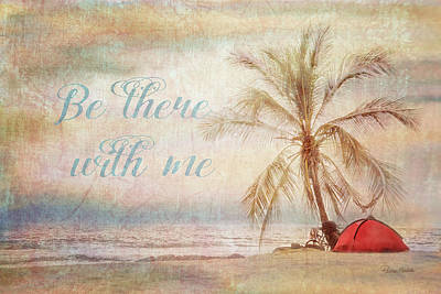 Be There Beach Poster by Ramona Murdock