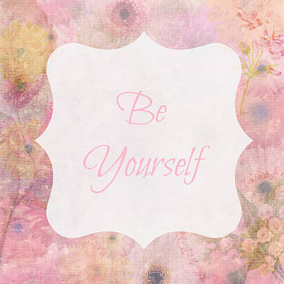 Be Yourself Daisies Poster