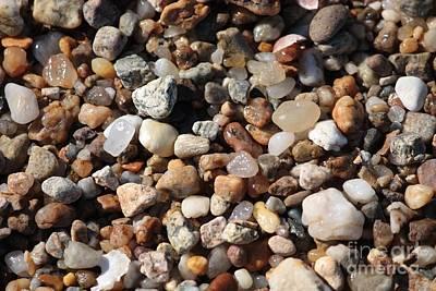 Beach Agates Poster by Carol Groenen