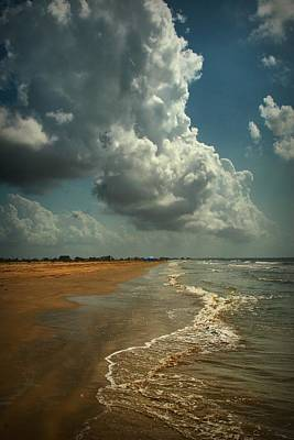 Beach And Clouds Poster by Linda Unger