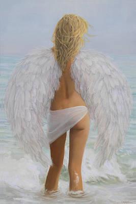 Beach Angel Poster by Shawn McLoughlin
