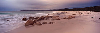 Beach At Dawn, Friendly Beaches Poster by Panoramic Images