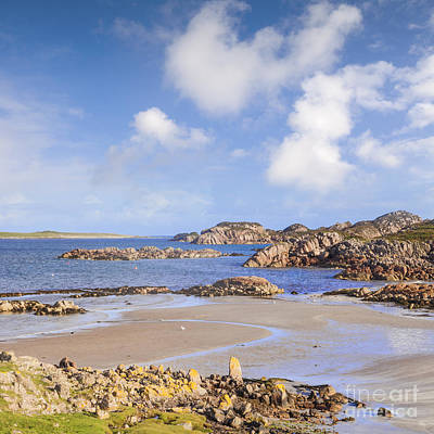 Beach At Fionnphort Mull Scotland Poster by Colin and Linda McKie
