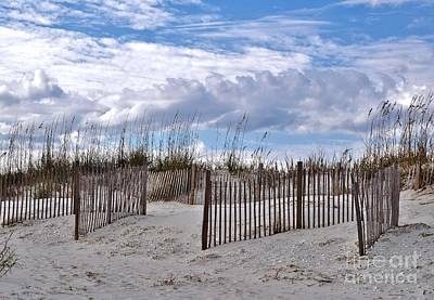 Poster featuring the photograph Beach At Pawleys Island by Kathy Baccari