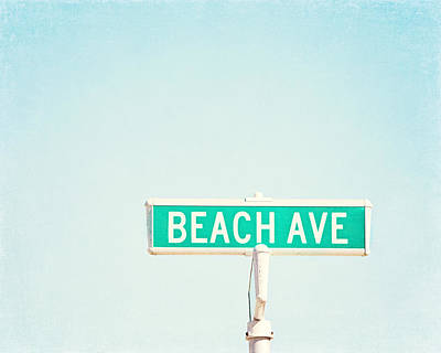 Beach Ave. Poster by Carolyn Cochrane