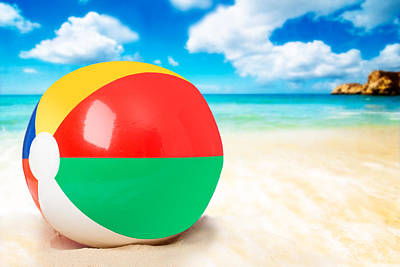 Beach Ball Poster by Amanda Elwell
