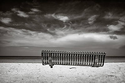 Beach Bench Poster by Dave Bowman