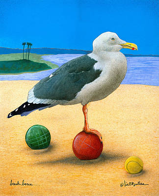 Beach Bocce... Poster by Will Bullas