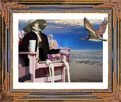 Beach Bones Poster by Betsy Knapp