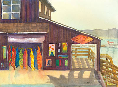 Poster featuring the painting Beach Boutique by Sandy Linden