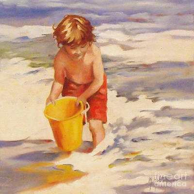Beach Boy Poster by Mary Hubley