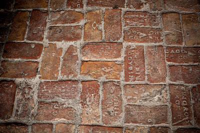 Beach Bricks Poster by Paul Bartoszek