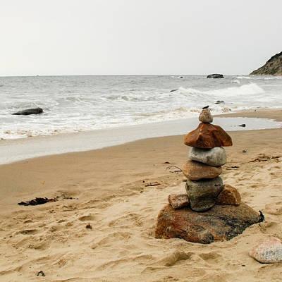 Beach Cairn  Poster