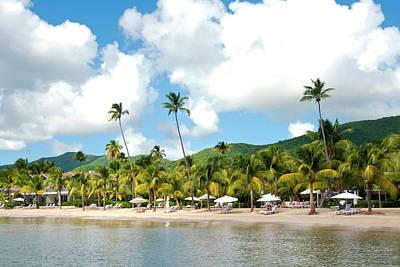 Beach, Carlisle Bay Hotel, Antigua Poster
