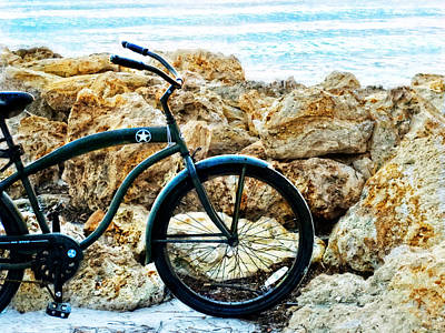 Beach Cruiser - Bicycle Art By Sharon Cummings Poster