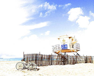 Poster featuring the photograph Beach Cruiser by Margie Amberge