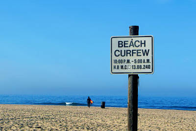 Beach Curfew Poster by Tammy Espino