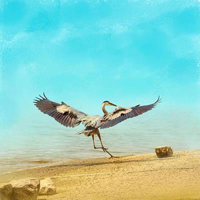 Beach Dancing Poster by Jai Johnson