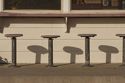 Beach Diner Stools Poster by Art Block Collections