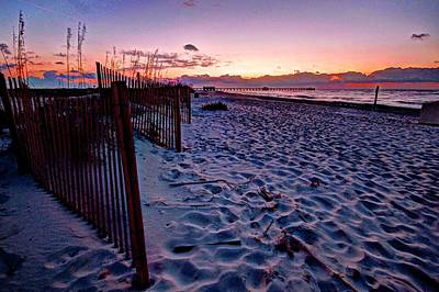 Beach Fence Poster by Michael Thomas