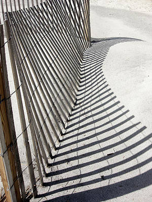 Beach Fence With Shadow Poster