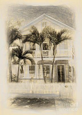 Beach House Sketch Poster