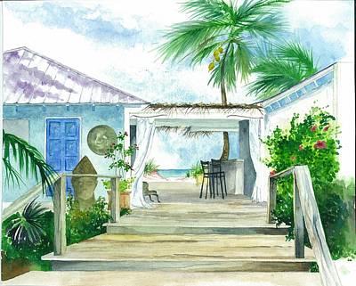 Beach House Tapas Bar Eleuthera Bahamas Poster