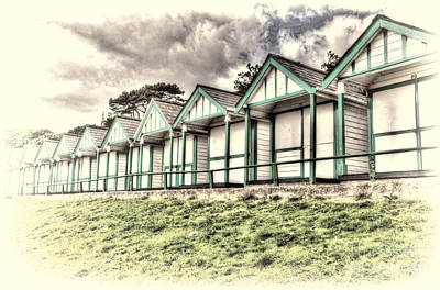 Beach Huts 4 Poster by Steve Purnell