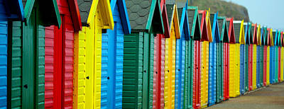 Beach Huts Poster by Chris Whittle