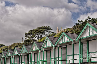 Beach Huts Langland Bay Swansea 3 Poster by Steve Purnell