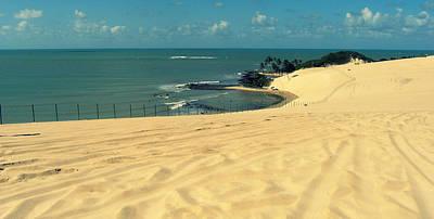 Beach In Brazil Poster by Robert Rivera