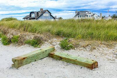 Beach Living In Maine Poster by Joe Faragalli